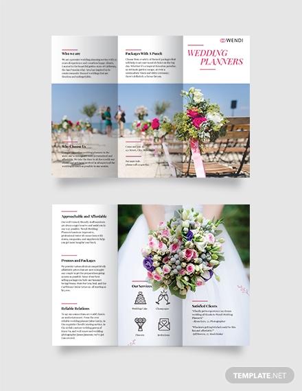 wedding planners tri fold brochure