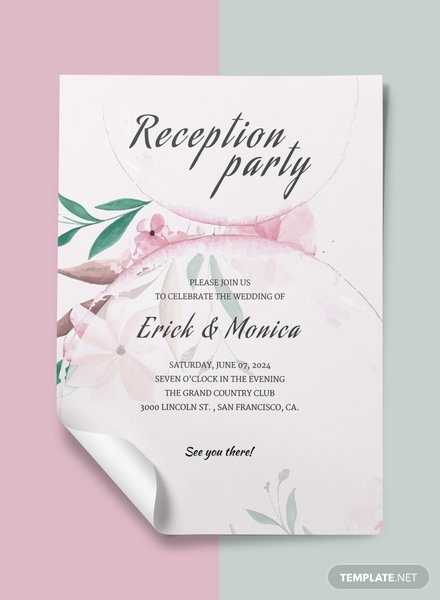 wedding reception program2