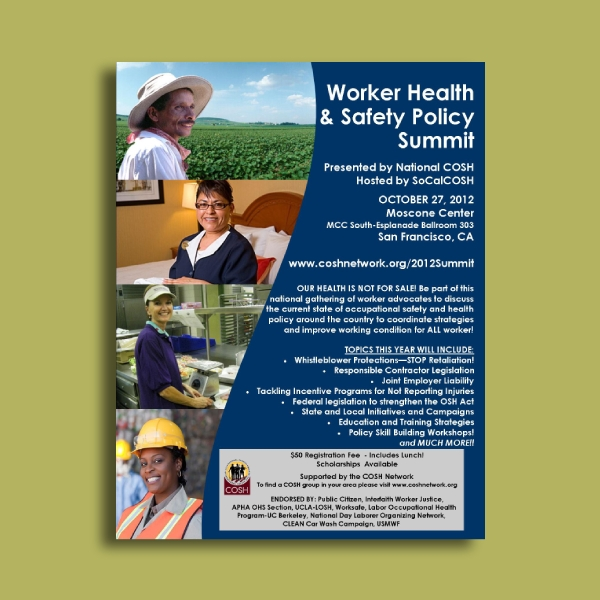 worker health and safety policy summit flyer