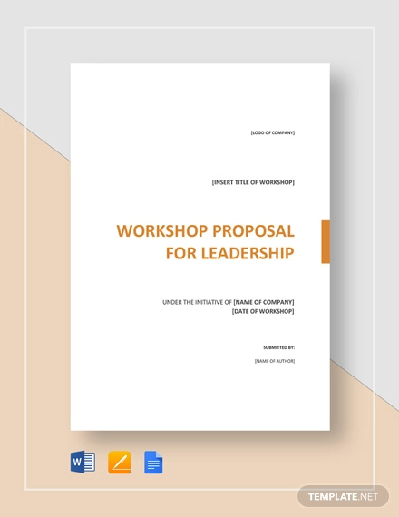 workshop proposal template