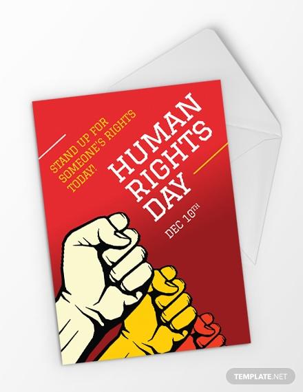 world human rights day greeting card