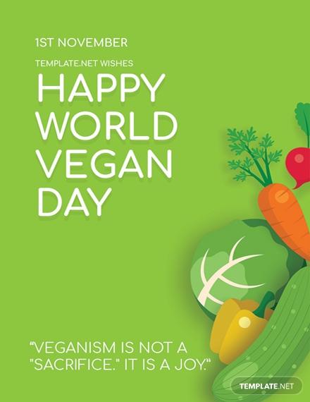 world vegan day greeting card1