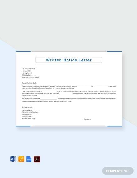 written notice letter1