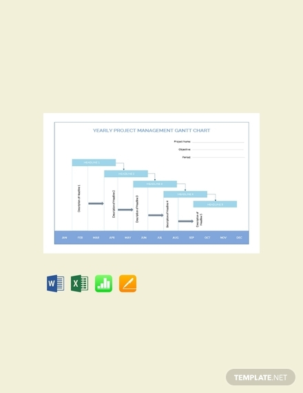yearly project management gantt chart