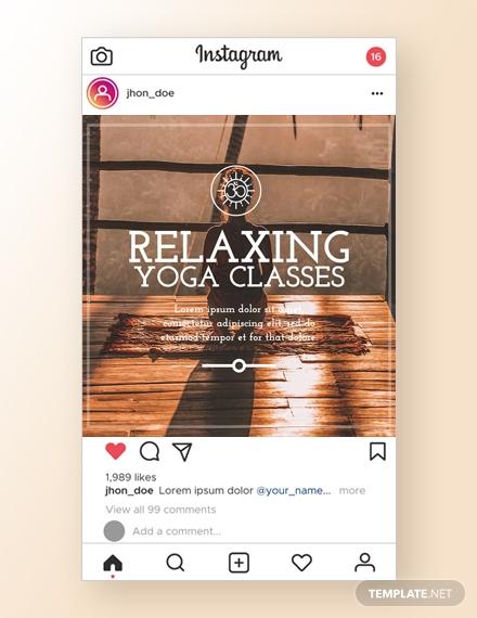 yoga instagram ad