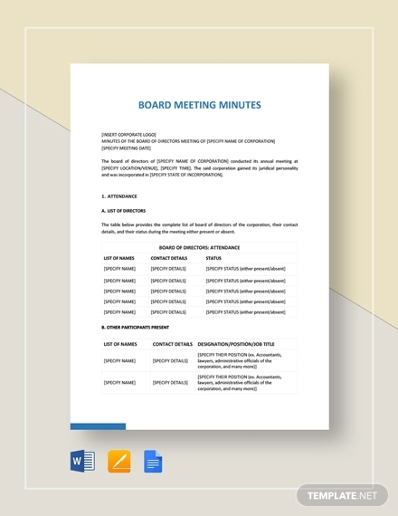 board meeting minutes1