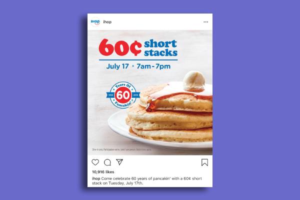 ihop instagram ad