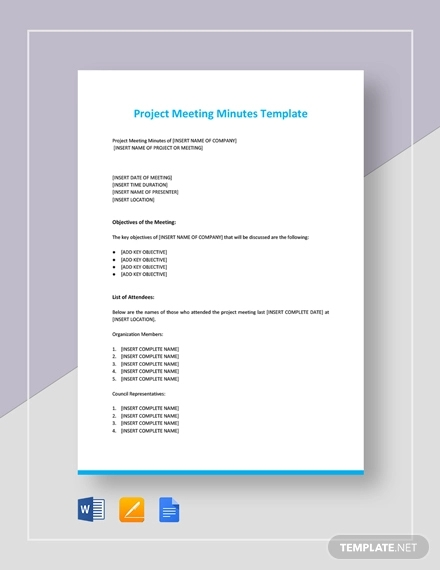 project meeting minutes2