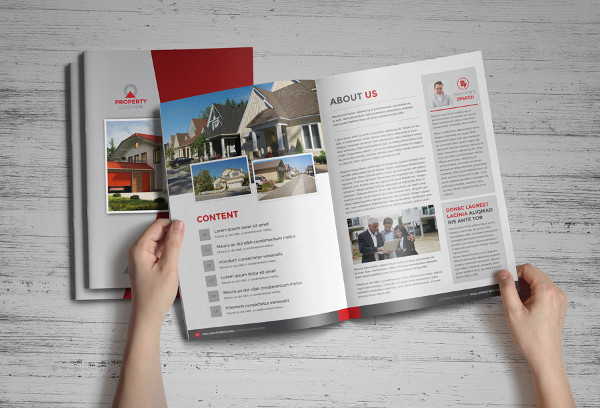 10real estate brochure catalog template