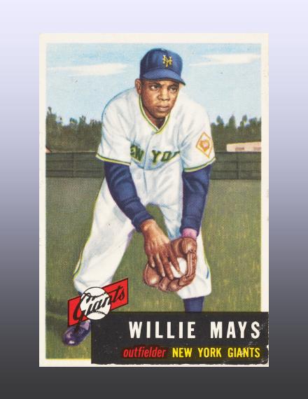1953 willie mays baseball card
