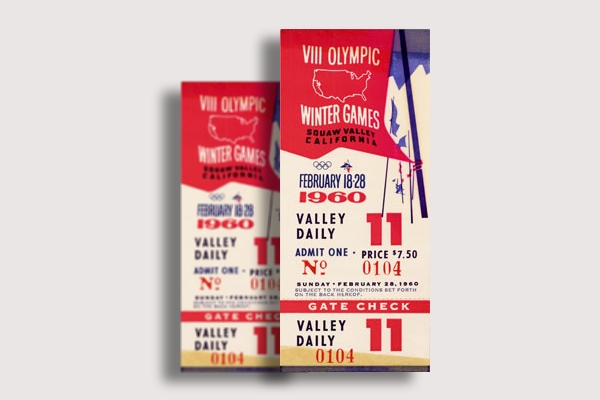 1960 winter olympics ticket