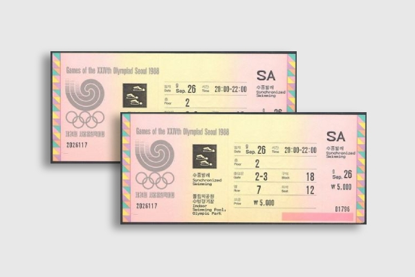 1988 seoul olympic games ticket 1