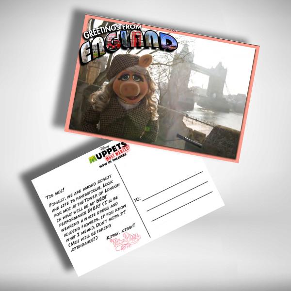a postcard from miss piggy
