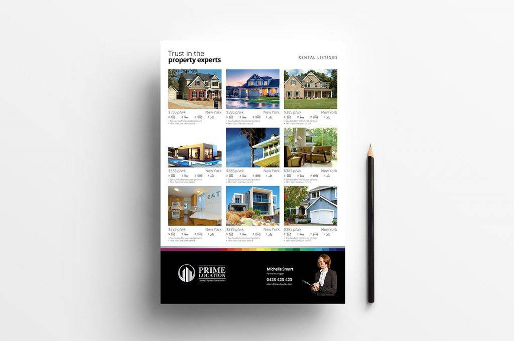 a4 paper size real estate property sheet template 1024x680