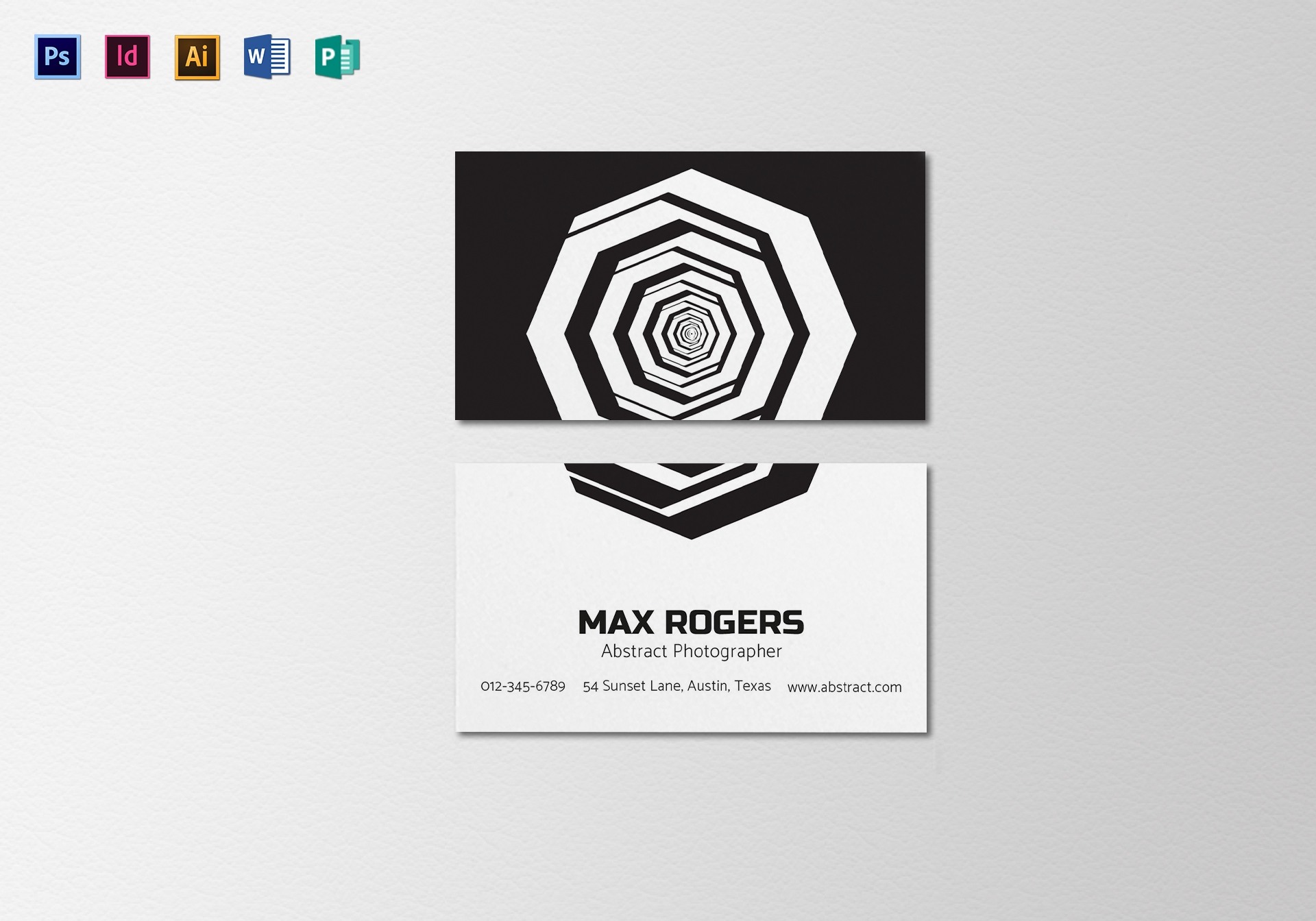 abstract photographer business card template
