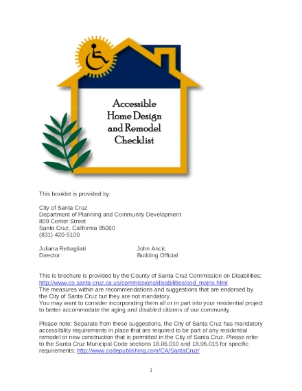 accessible home design and remodeling checklist