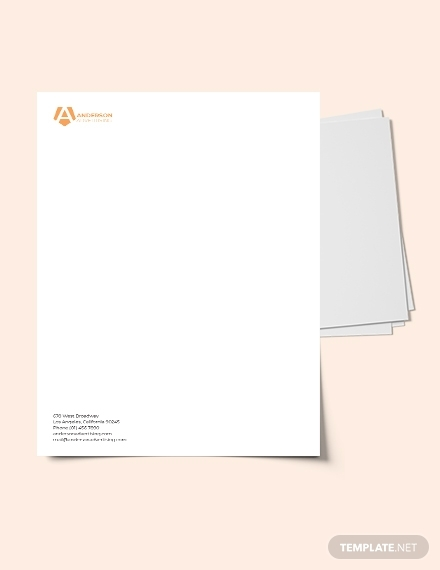advertising agency letterhead