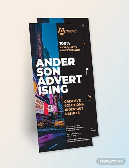 advertising agency rack card