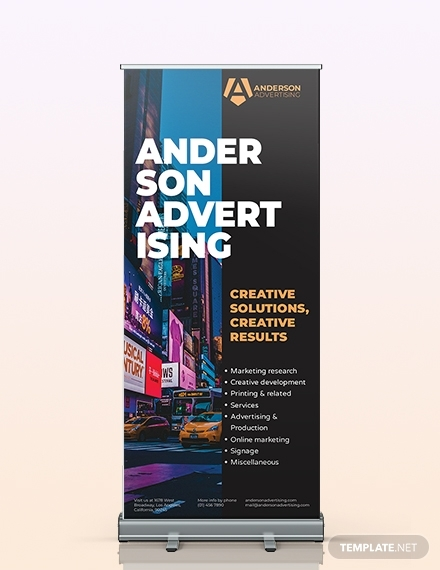 advertising agency rollup banner