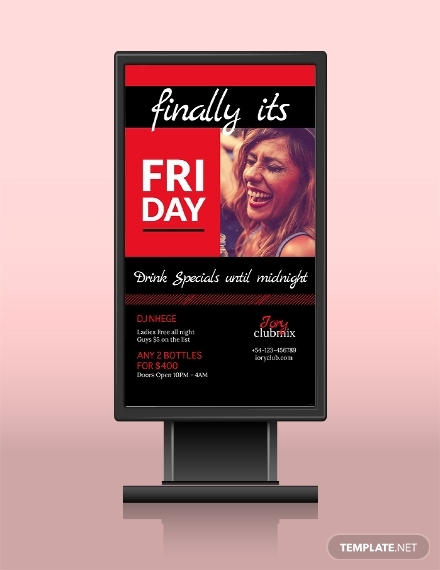 after work parties digital signage