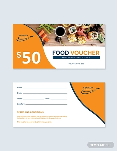 airplane food voucher 1