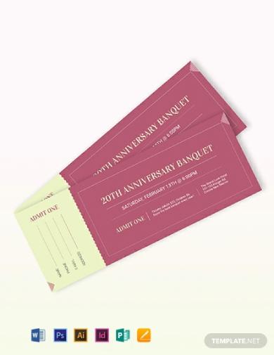 anniversary banquet ticket