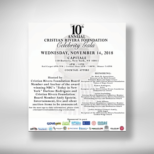 annual foundation celebrity gala invitation