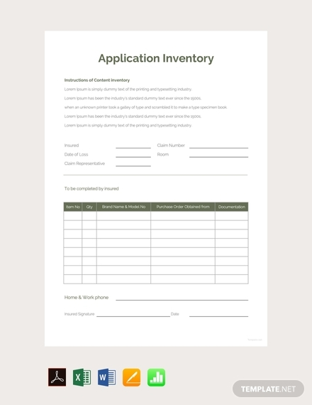 application inventory