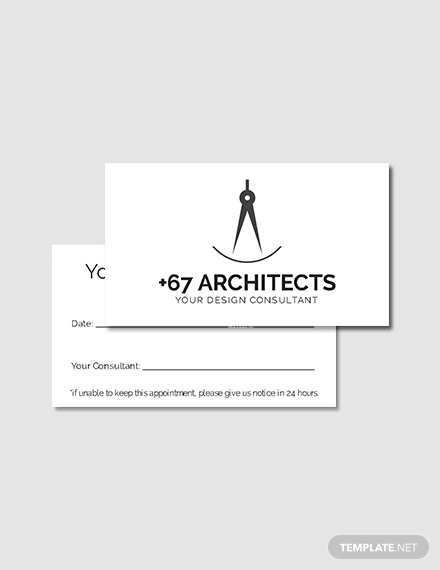 architecture consulting agency appointment card