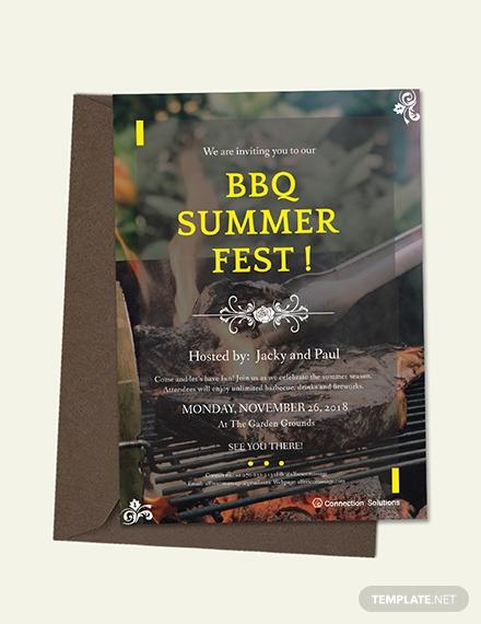 bbq summer fest invitation
