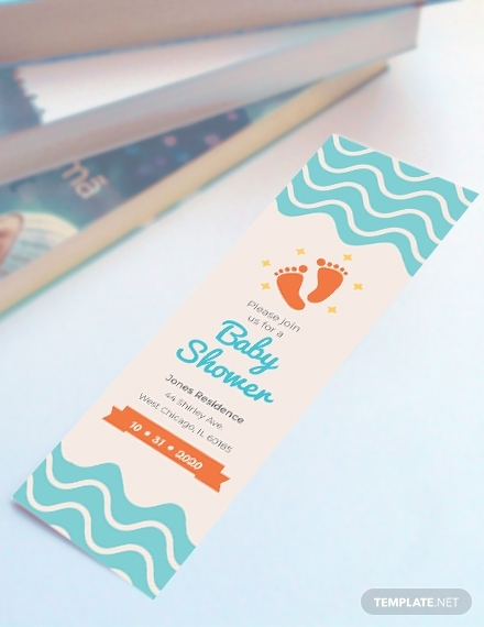 baby shower bookmark template 440