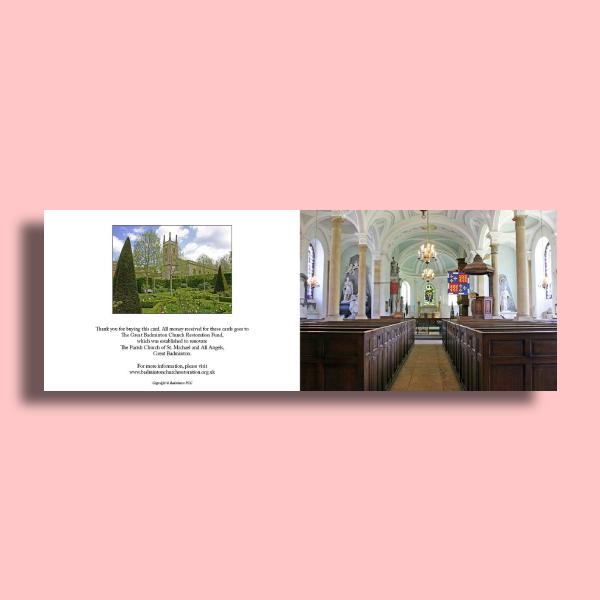badminton church greetings card
