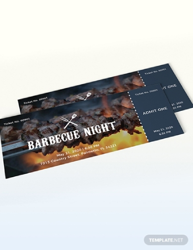 barbecue night ticket