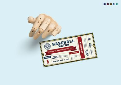 baseball sports ticket