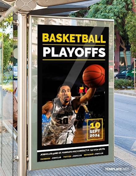 basketball playoffs digital signage