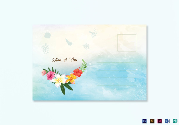 beach wedding post card1