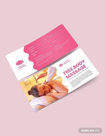 beauty massage voucher
