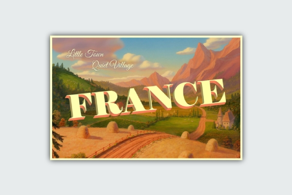 belles france postcard