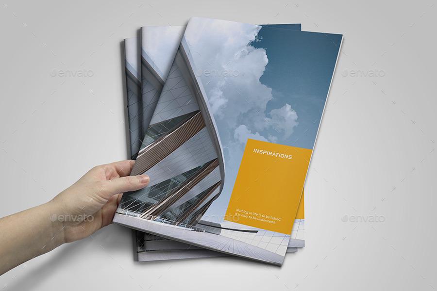 bi fold real estate property brochure template