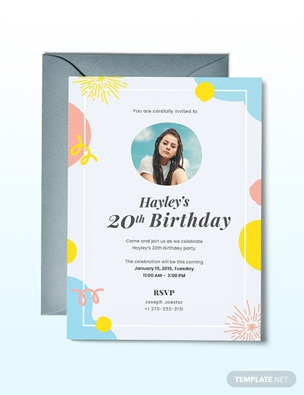 birthday invitation template with photo2