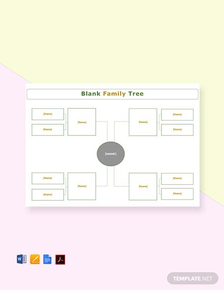 blank simple family tree template1