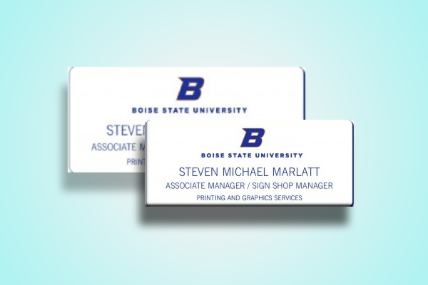 boise state university name tag