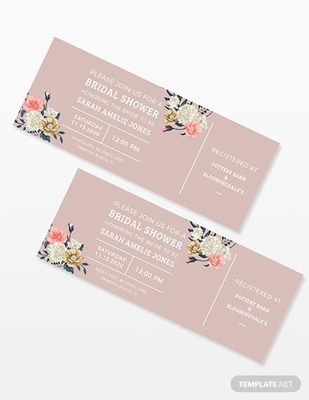 bridal shower ticket invitation