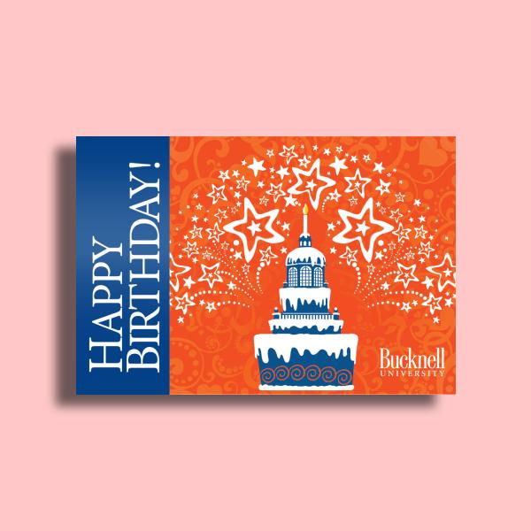 bucknell university birthday greeting card