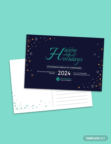 business holiday postcard