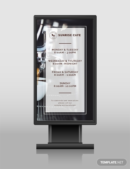 business hours digital signage