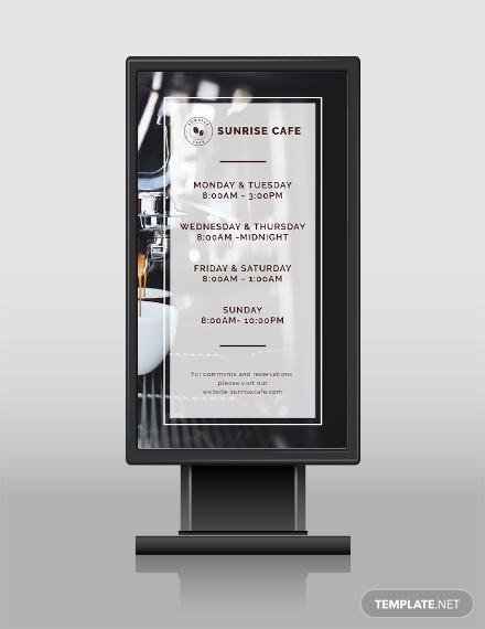 business hours digital signage1