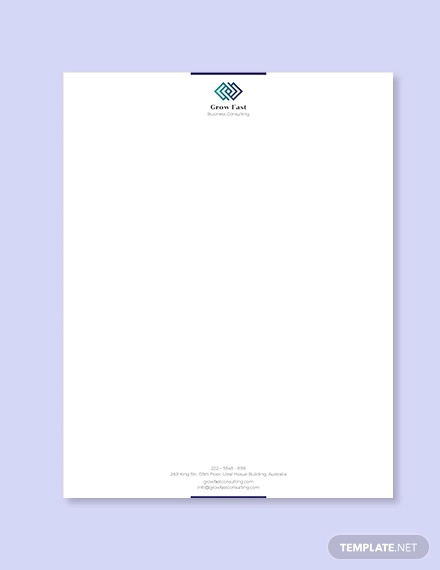 Business Letterhead Designs Examples