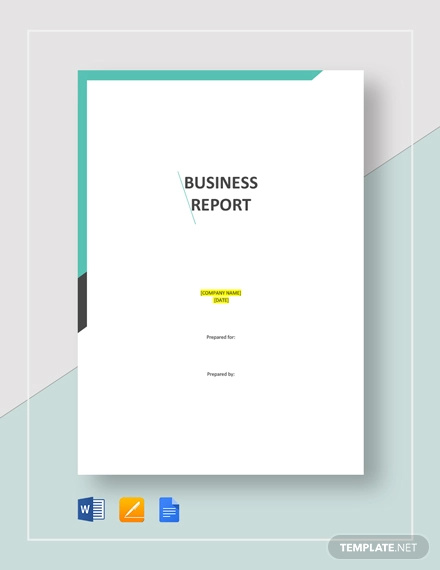 business report template