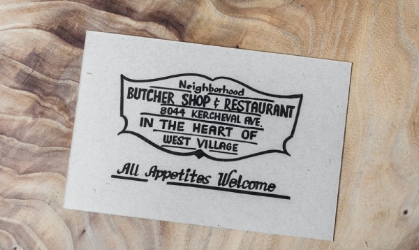 butcher shop and restaurant envelope